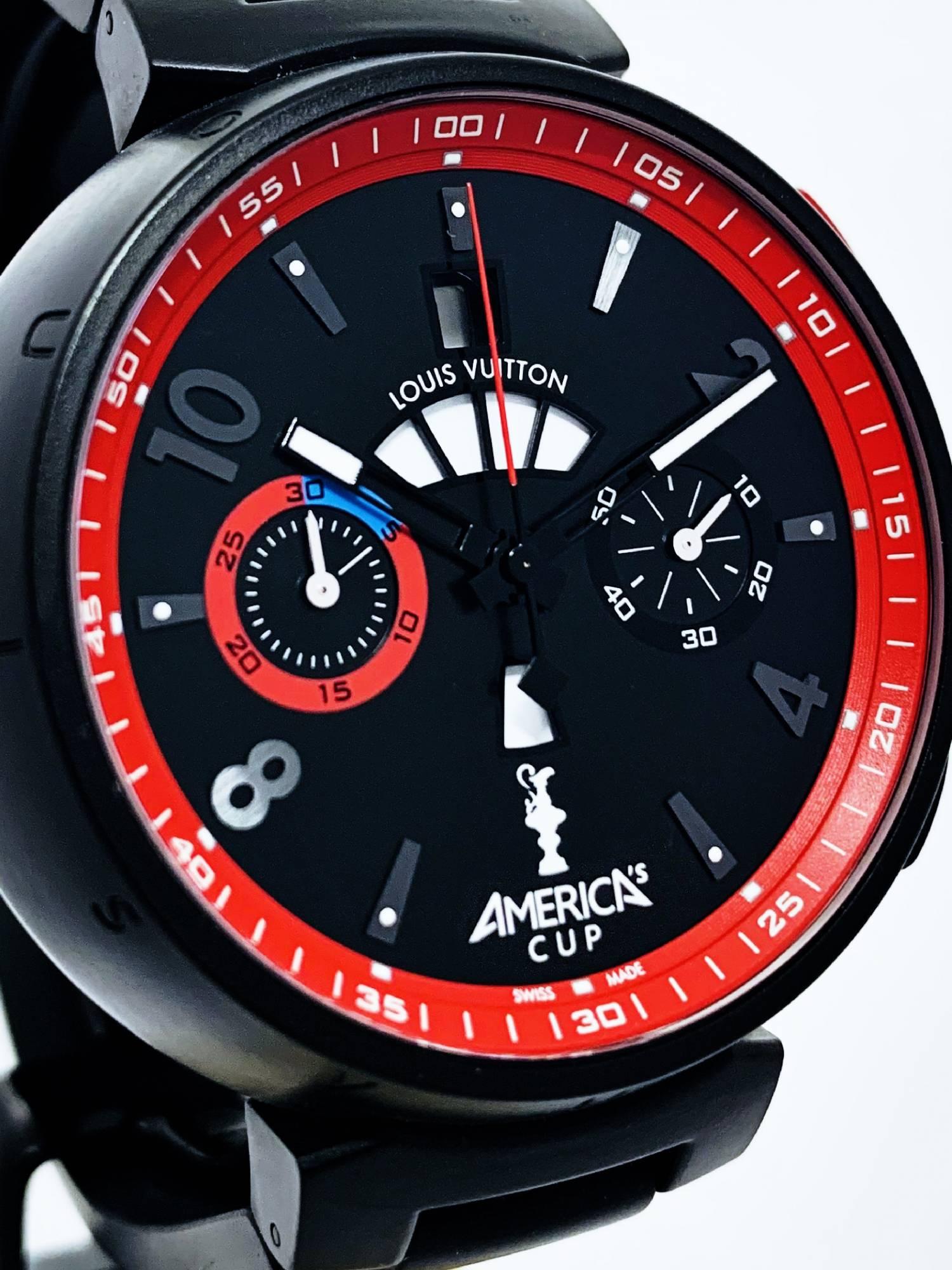 Montre occasion Lous Vuitton Tambour Chronographe América ...