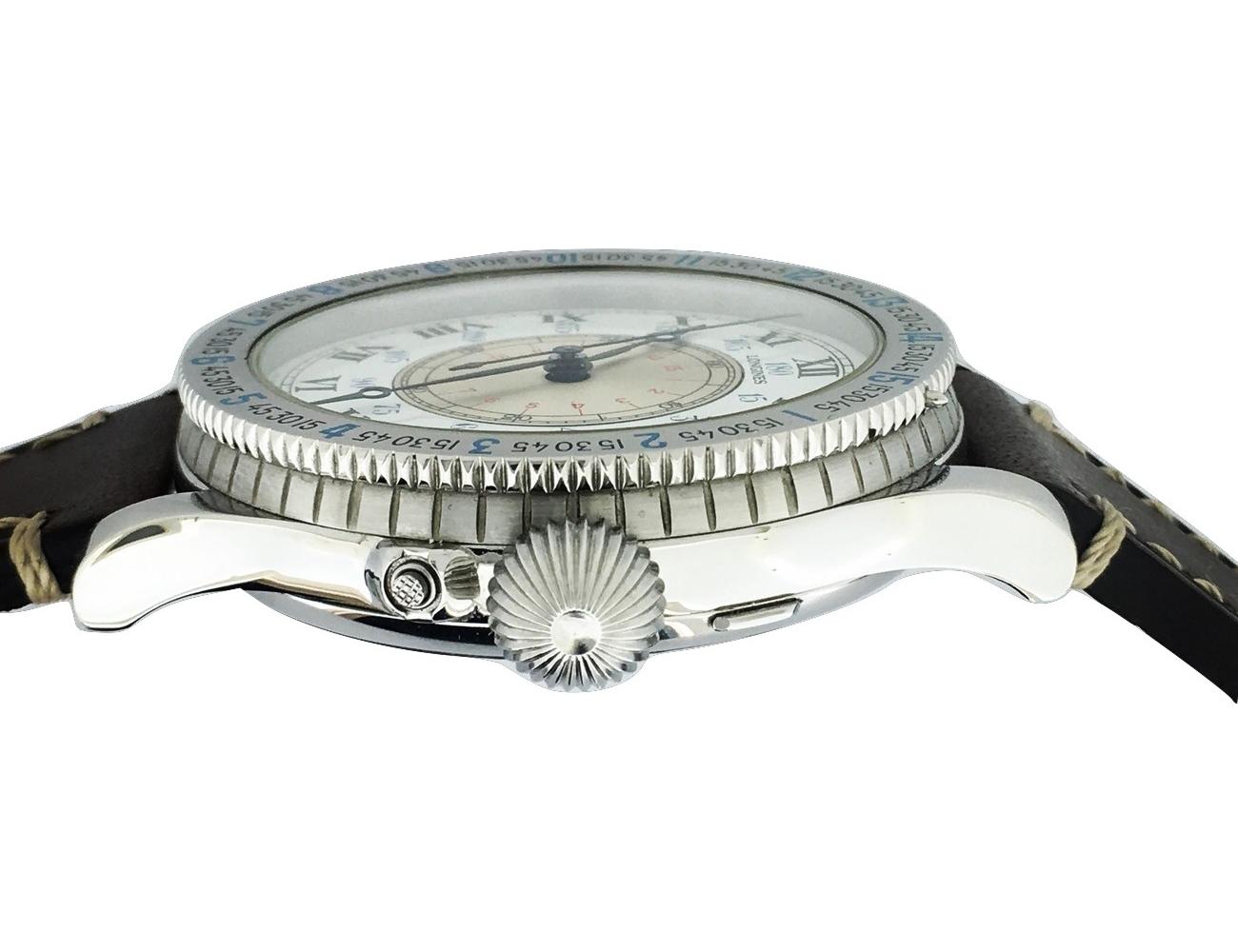 Montre occasion Longines Lindbergh 47mm Edition limitée Mécanique.