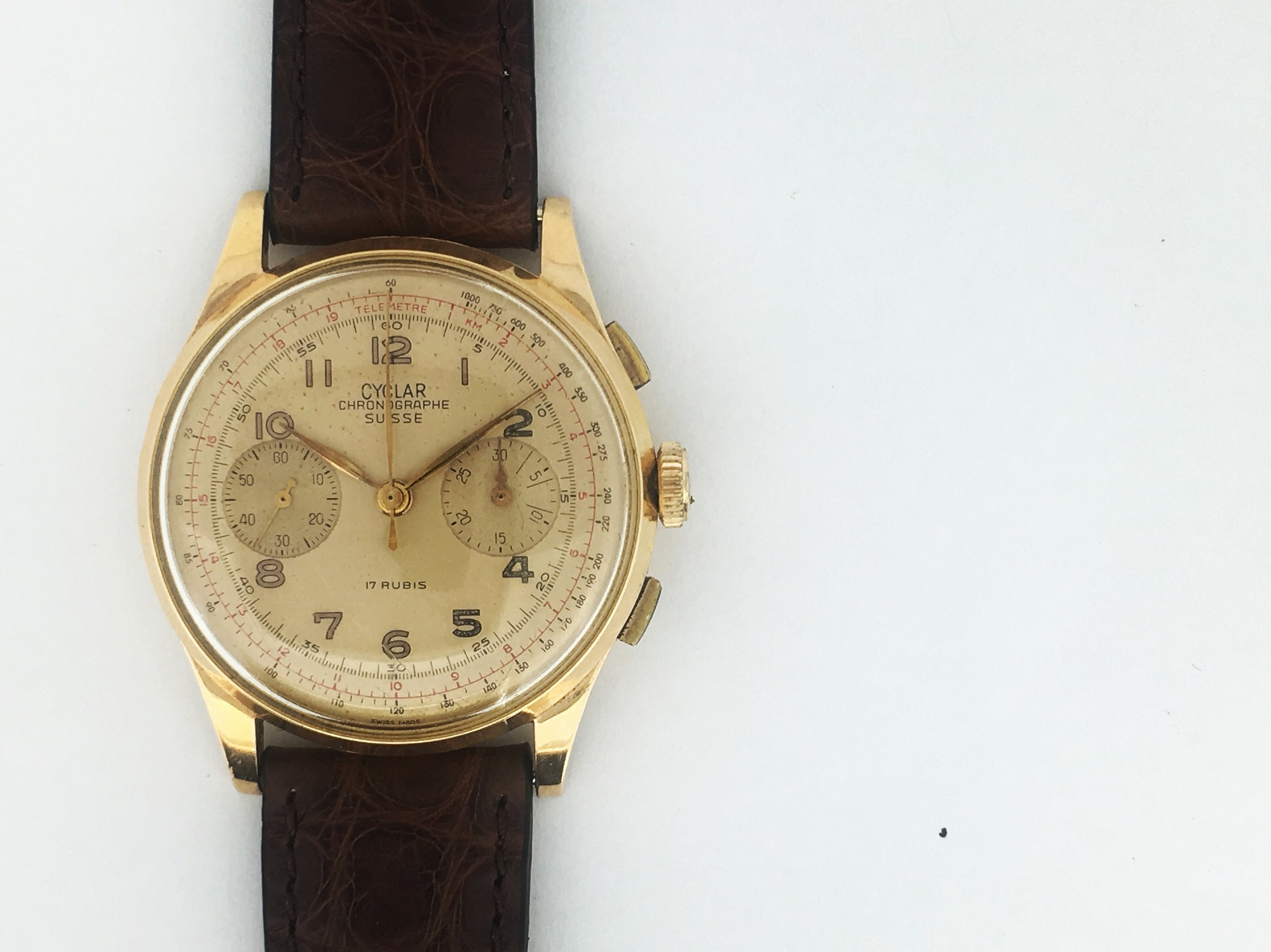 Montre occasion Eberhard & Co Chronographe Vintage Extra fort.