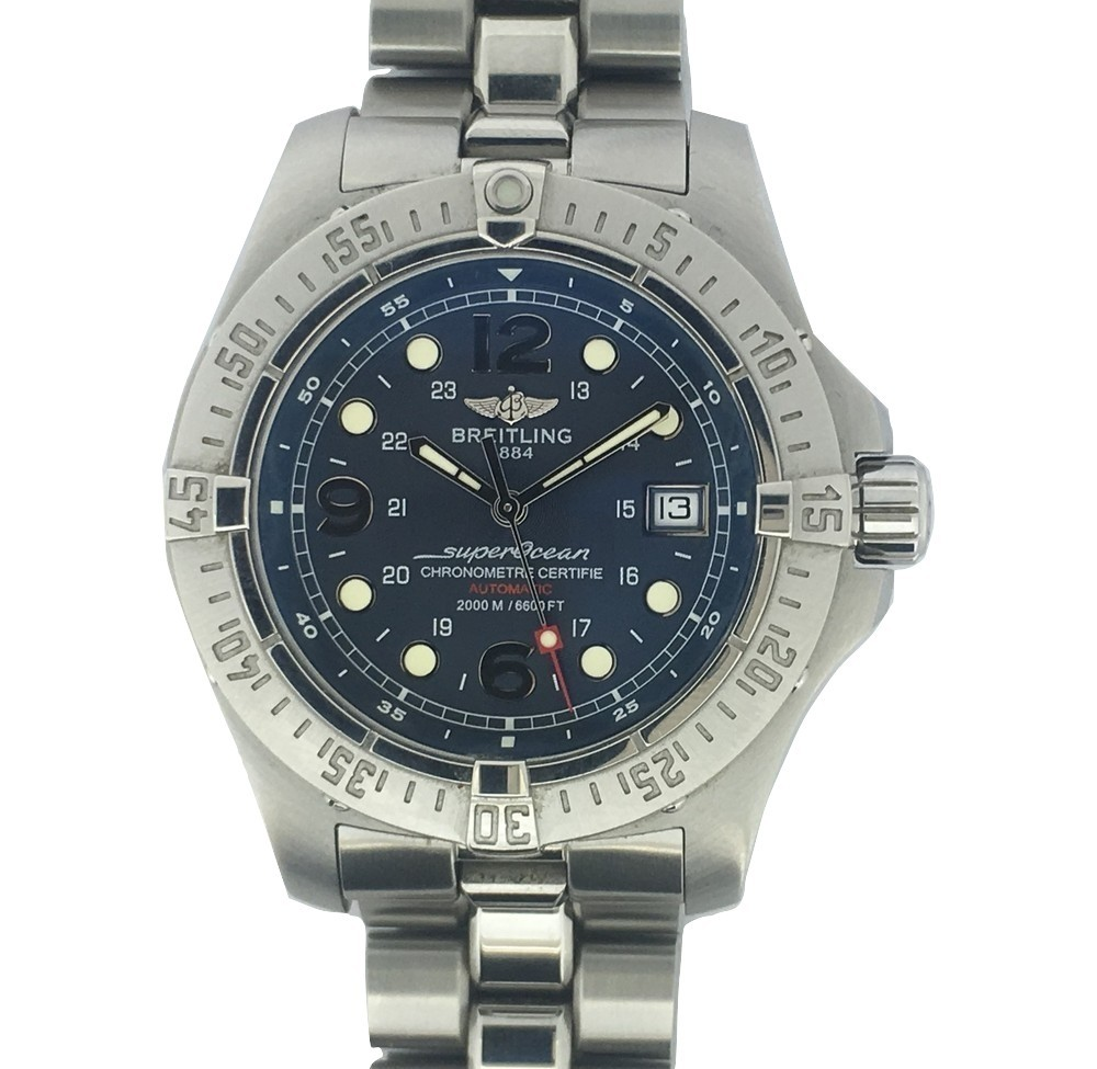 Montre occasion Breitling Superocéan SteelFish 2000M.