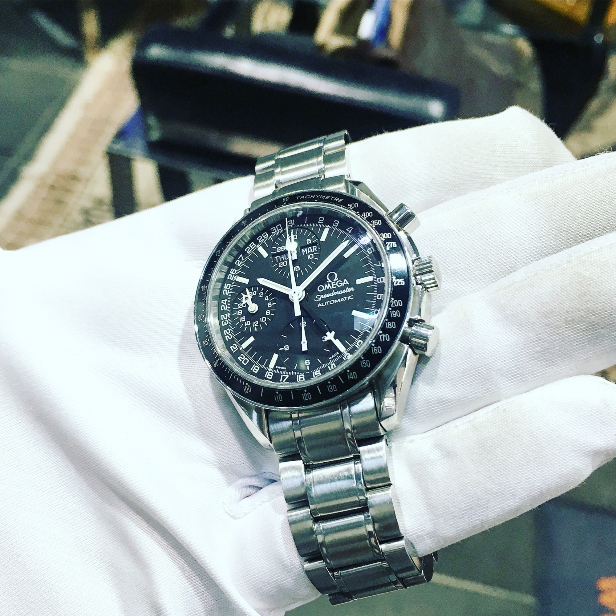 Montre occasion Omega Speedmaster Day Date.