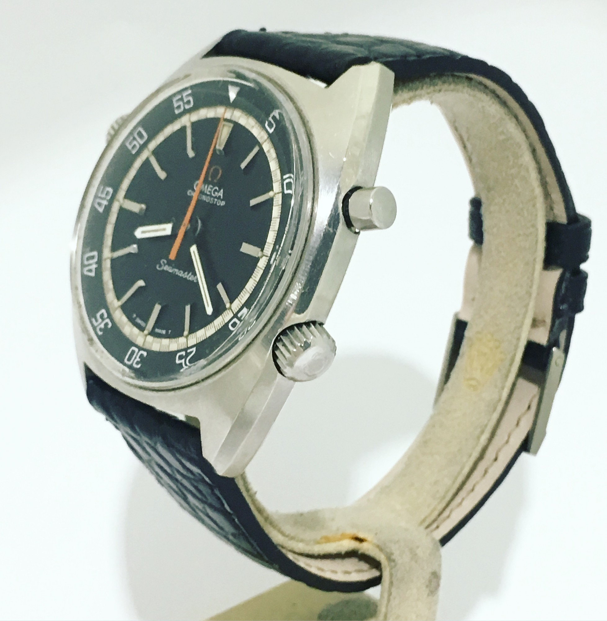Montre occasion Omega Chronostop Seamaster.