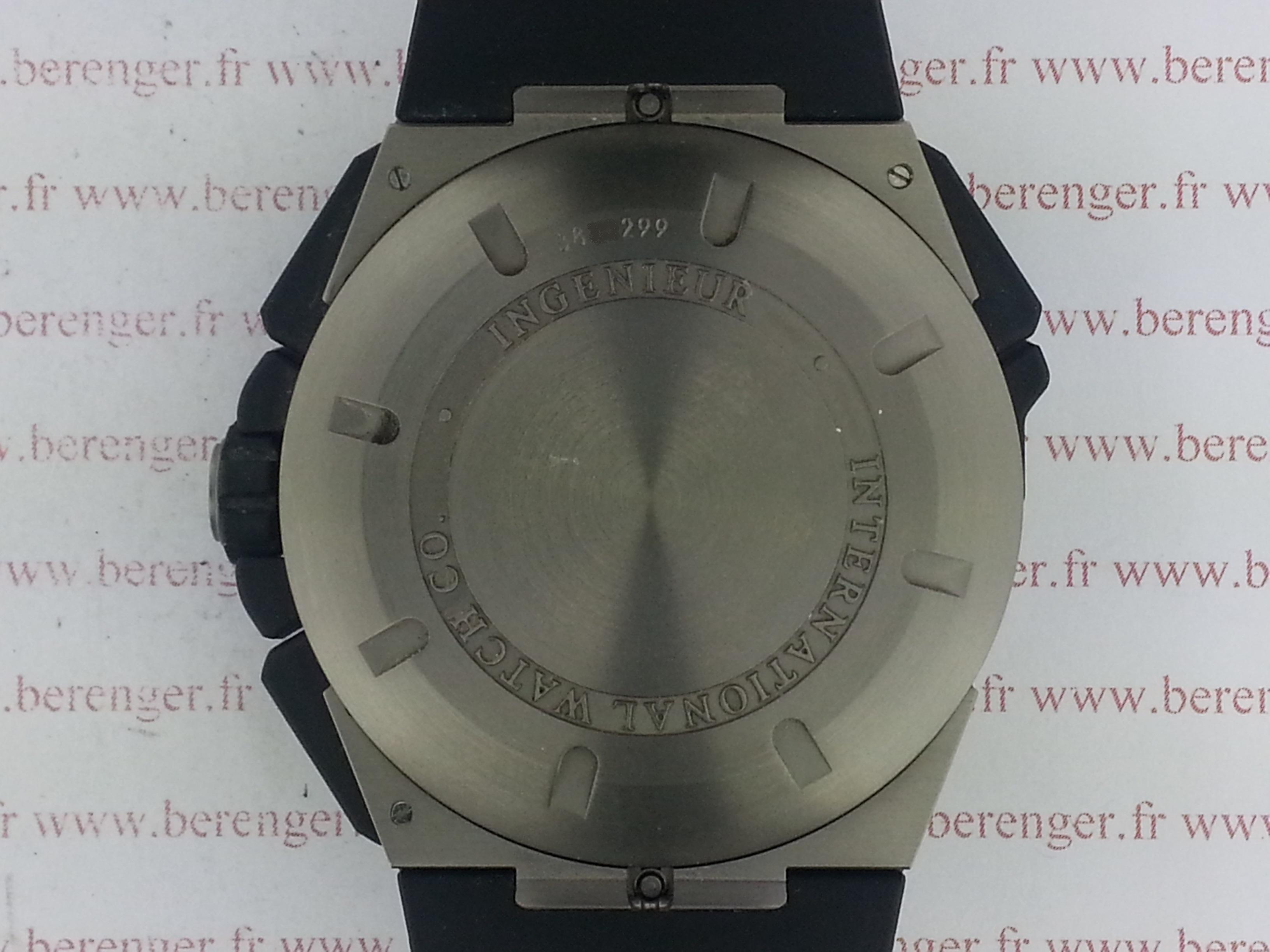 Montre occasion I.W.C Ingénieur Double Chronographe Titane.