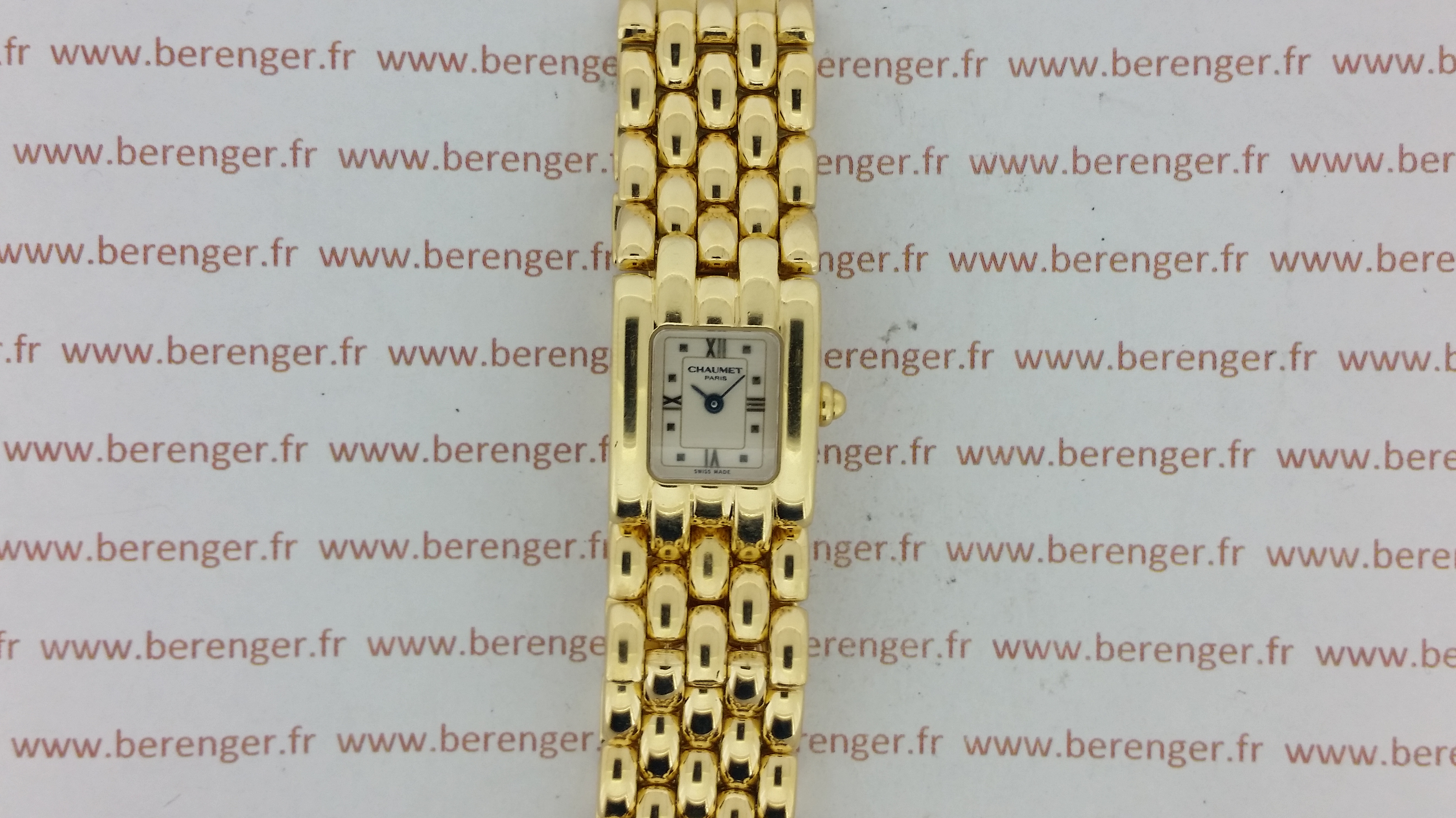 Montre occasion Chaumet Khesis or jaune.