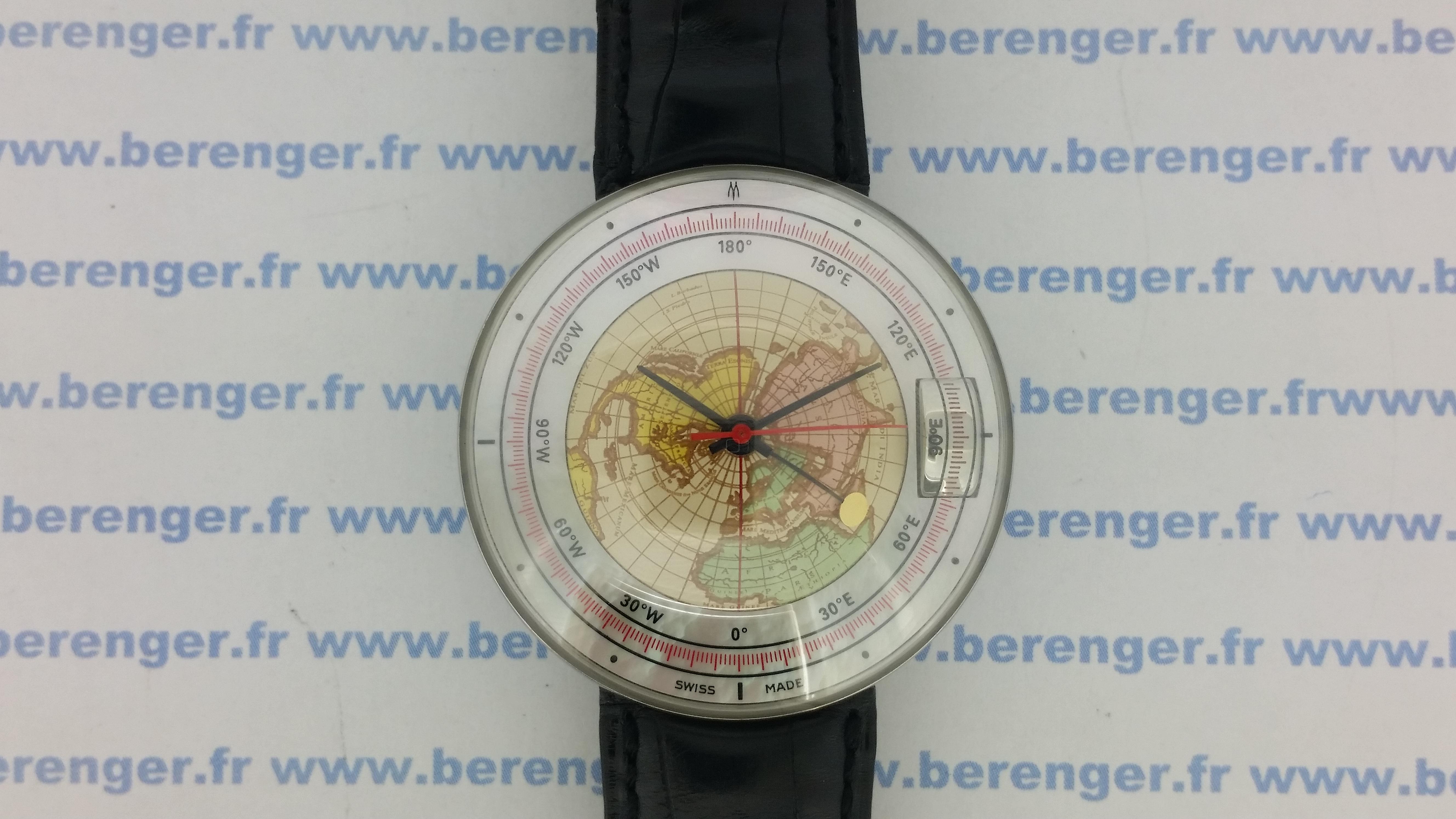 Montre occasion Magellan 1521  World time hémisphère nord.