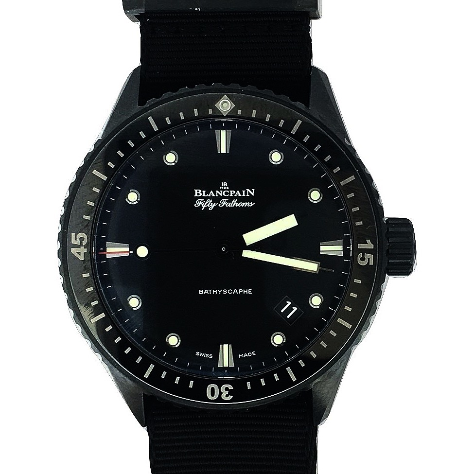 Montre occasion Blancpain Fifty Fathoms Bathyscaphe.