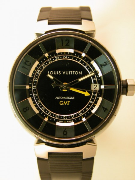 Montre Tambour in Black GMT